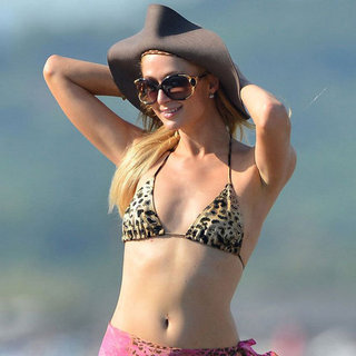 Paris Hilton in a Leopard Bikini Pictures
