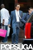 Matthew McConaughey walked to his car in NYC.
