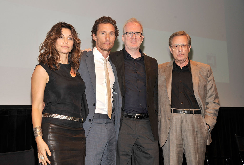 Matthew McConaughey posed with Gina Gershon, Tracy Letts, and William Friedkin at the Killer Joe screening in NYC.