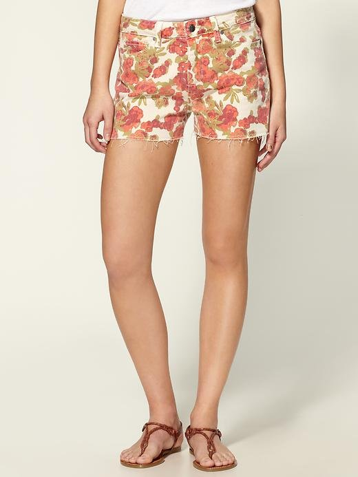 A floral-printed jean short holds all the appeal of Summer fun but also has a slightly '90s nostalgic feel . . .  and we're OK with that. Paige Denim Lola Shorts ($74, originally $148)