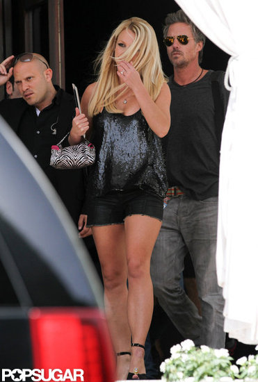 Britney Spears is in Miami filming The X Factor boot camp.