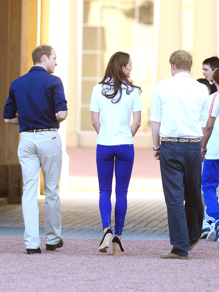 Kate Middleton, William, and Harry Get Up Close With Olympic Torch