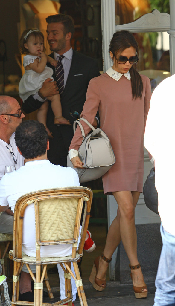 David and Victoria Beckham had lunch with Harper in London over the Summer.