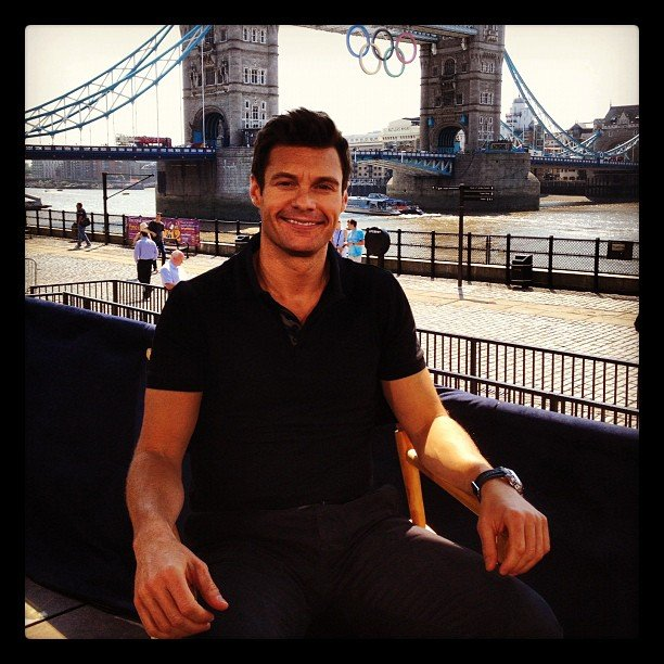 Ryan Seacrest hit the set of the Today show in London. Source: Instagram user todayshow