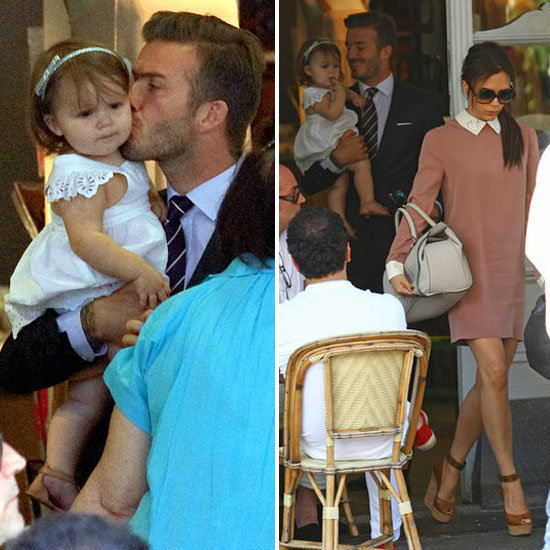 David and Victoria Do Lunch in London With Harper