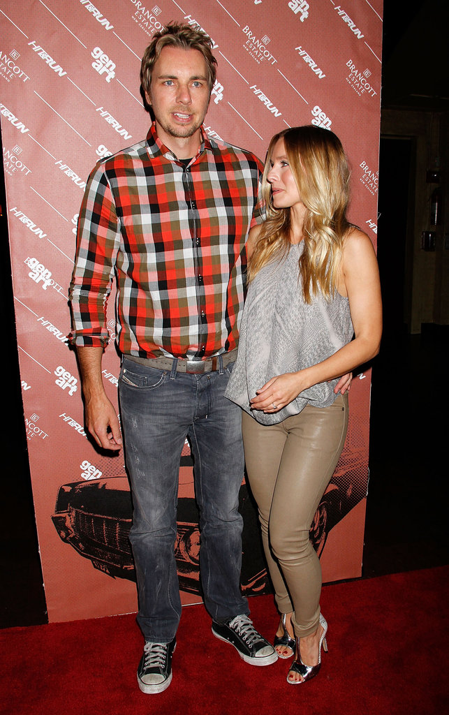 Dax Shepard and Kristen Bell posed together at the Hit and Run screening in NYC.