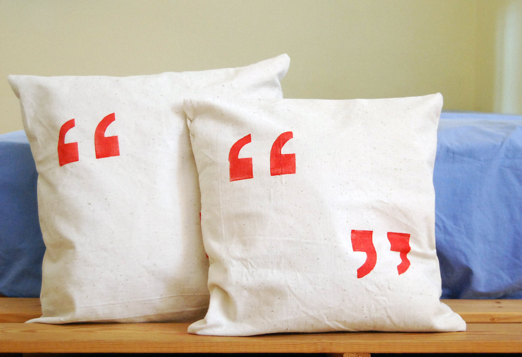 Quotation Marks Pillow Cover