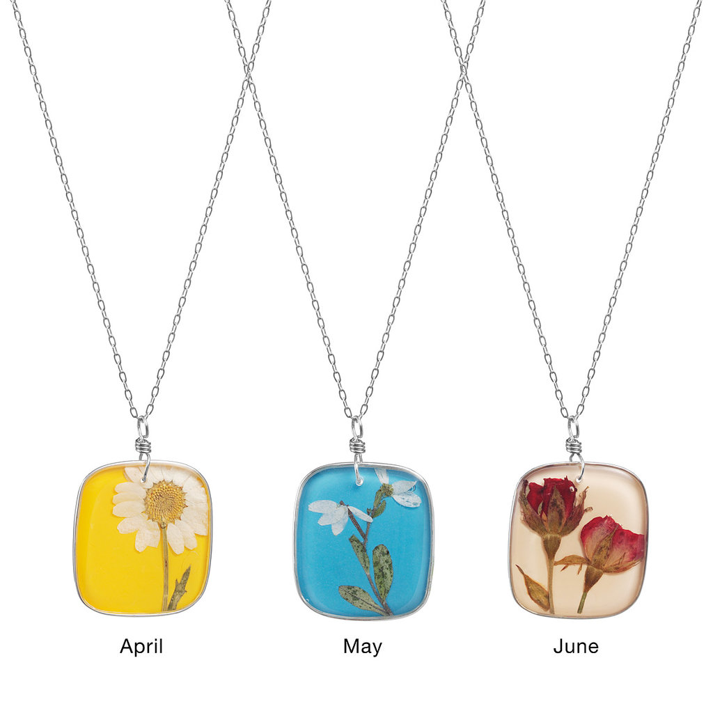 Birth Month Flower Necklace ($48)