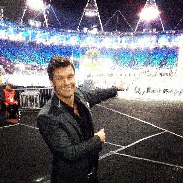 Ryan Seacrest covered the opening ceremonies from on the ground. Source: Instagram user ryanseacrest