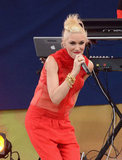 Gwen Stefani hit the stage with her band, No Doubt, for Good Morning America.