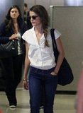 Keri Russell landed in LAX.