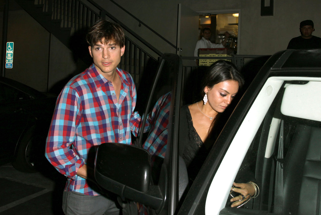 Ashton Kutcher and Mila Kunis ate at Duplex.