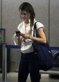 Keri Russell got off of a plane at LAX.