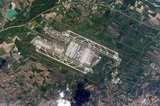 It looks calm from space, but host city Munich, Germany's airport, shown here, is the nation's second busiest airport.