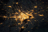 Montreal, Canada, was captured by an astronaut aboard the International Space Station with a Nikon 3DS digital camera.