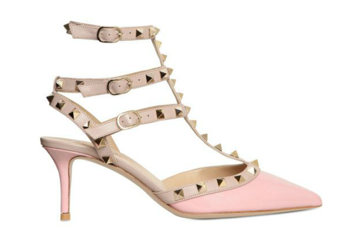 After spotting this sexy pump on Olivia Palermo, we're certain it's the coolest mix of girlie-meets-punk we've ever laid eyes on. Valentino Rock Stud Patent Pointy Pumps ($992)