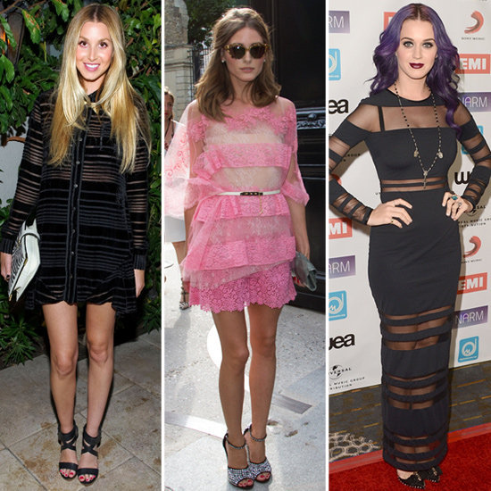 Sheer stripes are a celebrity favorite, so shop the look for yourself.