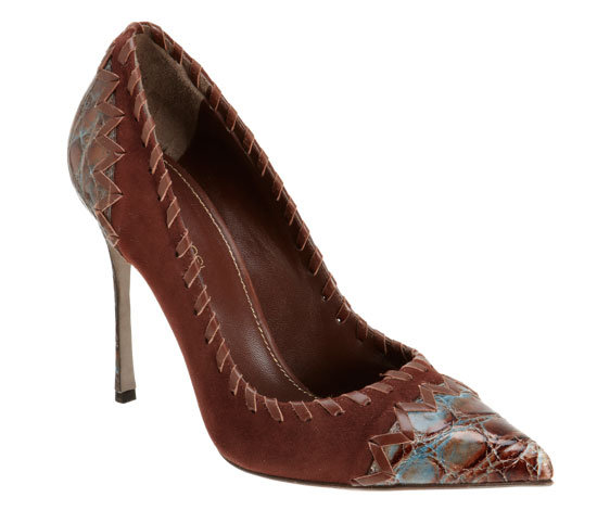 "We've renamed this cool-girl style the ""wild, wild West chic"" pump. Sergio Rossi Two-Tone Tipped Pump ($1,195)"