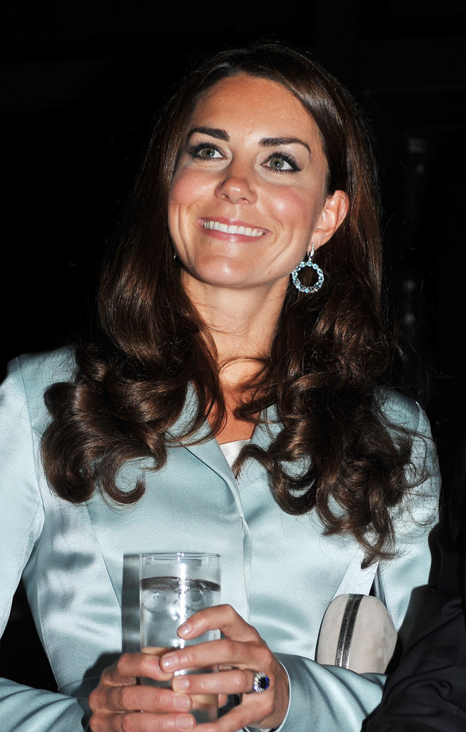 Kate looked pretty in blue.