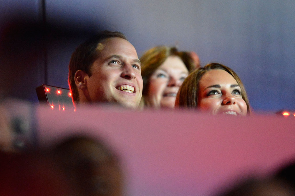 Prince William and Kate Middleton watched the festivities.