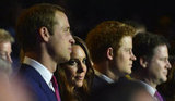 The young royals sat together.