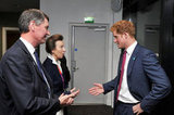 Prince Harry talked with Princess Anne at the opening ceremony.