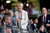 Princess Charlene of Monaco laughed alongside her husband, Prince Albert II of Monaco.
