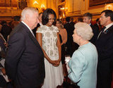 Queen Elizabeth II and Michelle Obama chatted together during a reception for the Olympics at Buckingham Palace.