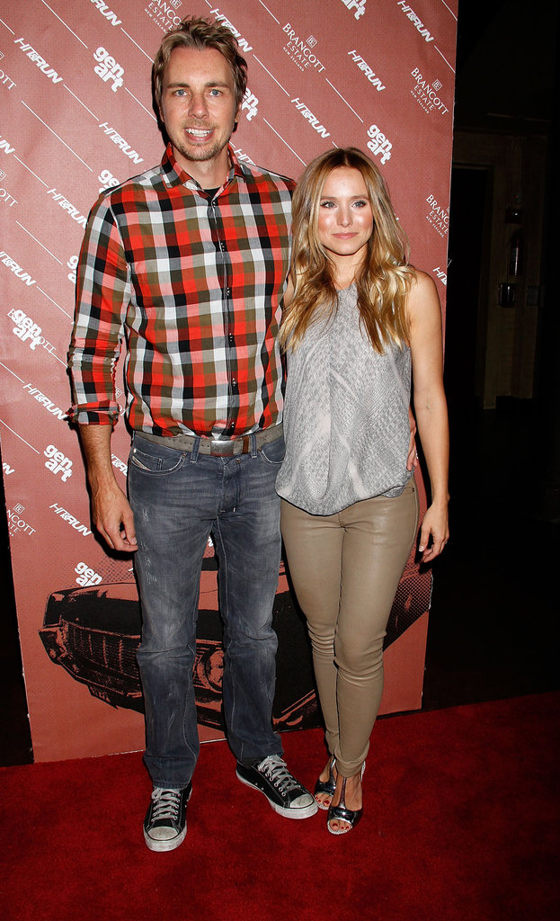 Dax Shepard and Kristen Bell were cute at a screening of Hit and Run in NYC on July 25.