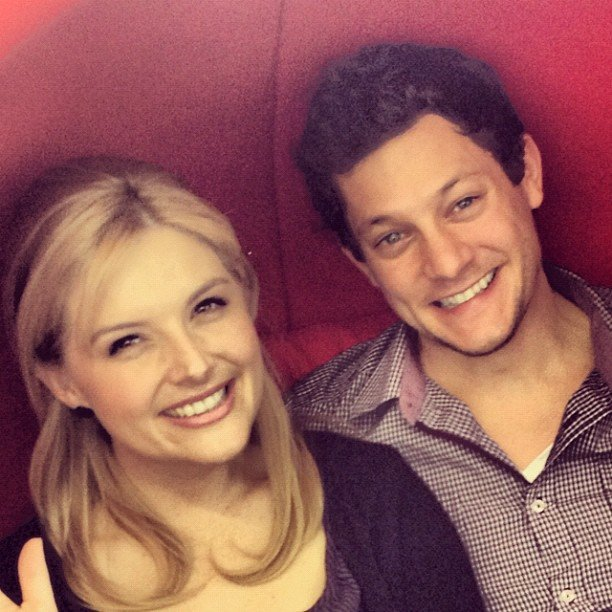 Legally Blonde: The Musical co-stars Lucy Durack and Rob Mills hung out in Brisbane. Source: Instagram user robmillsymills