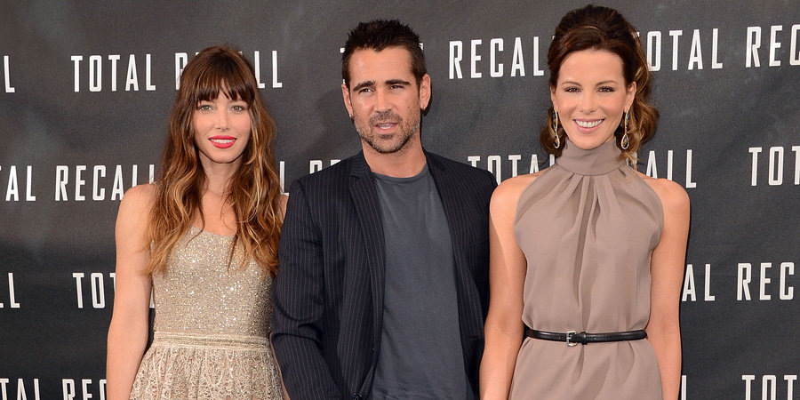 Jessica, Colin and Kate Make a Terrific-Looking Total Recall Threesome