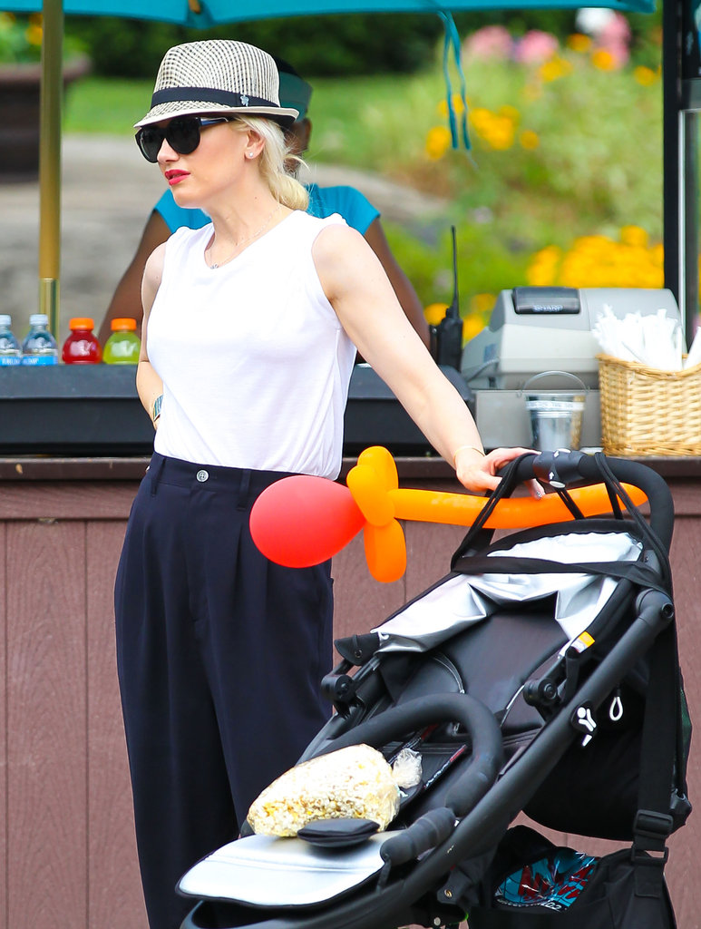 Gwen Stefani and Her Boys Kingston and Zuma Fly High in Central Park