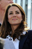 Kate watched the equestrian competition.