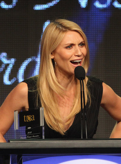 Claire Danes gave an acceptance speech at the Television Critics Association Awards in LA.
