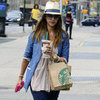Jessica Alba Wears a Fedora in NYC