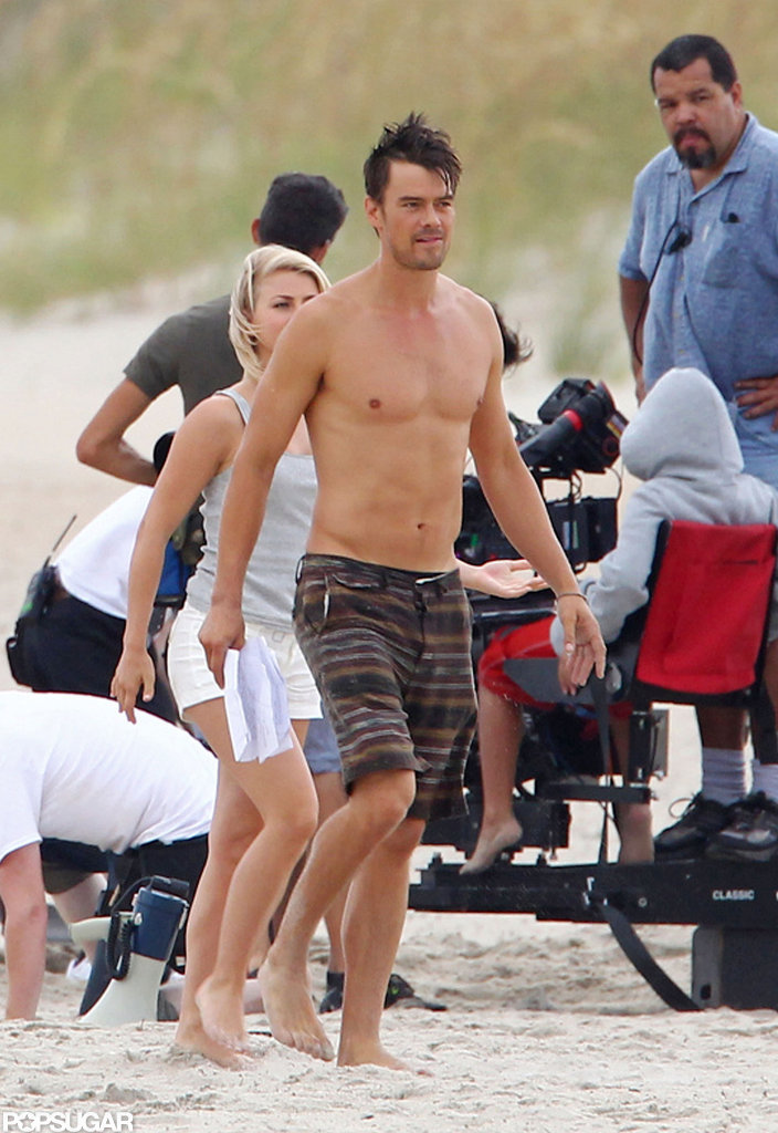Josh Duhamel stripped off his shirt.
