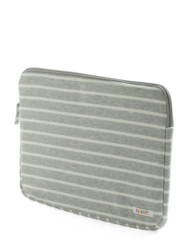 Different Keystrokes Laptop Sleeve in Light Gray ($35)