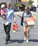 Eric Dane and Rebecca Gayheart shopped in LA with their daughter, Billie Dane, on Sunday.