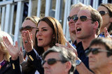 Prince William and Kate Middleton cheered on cousin Zara Phillips.