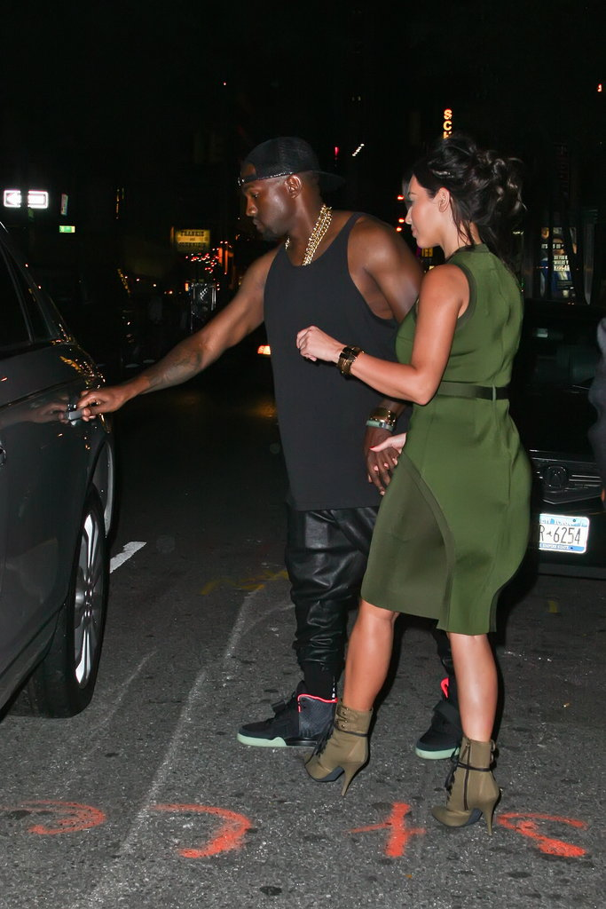 Kanye West grabbed the door for Kim Kardashian.