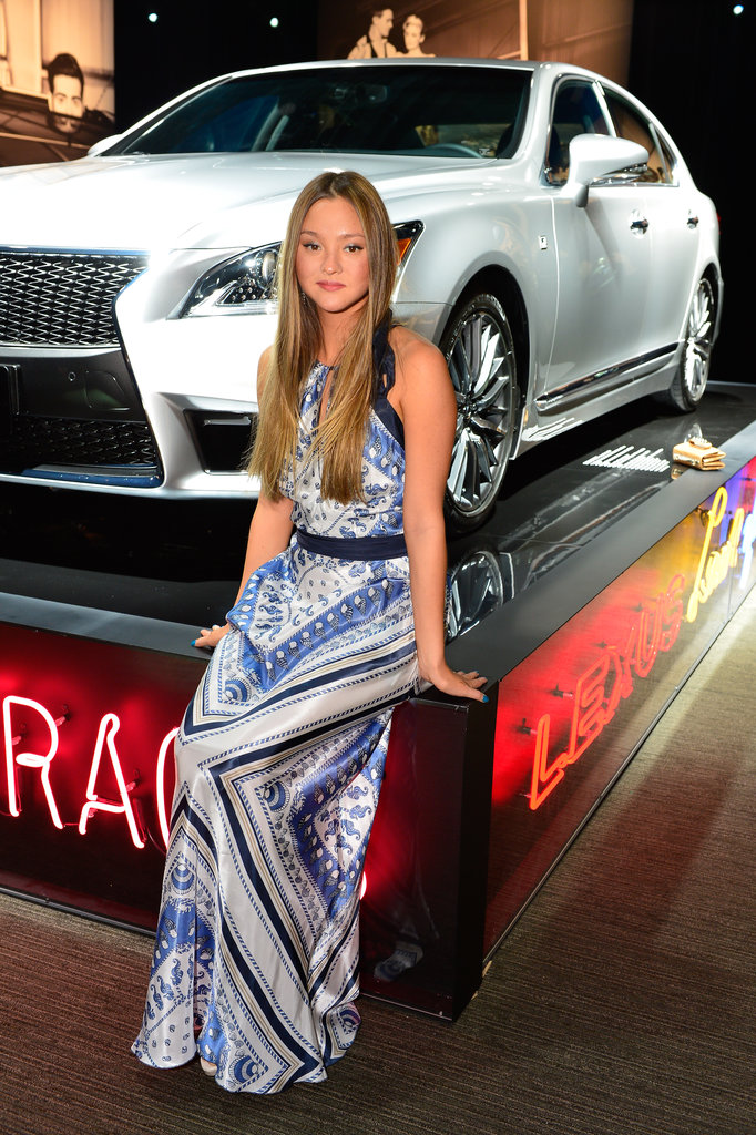 Devon Aoki posed with a Lexus.