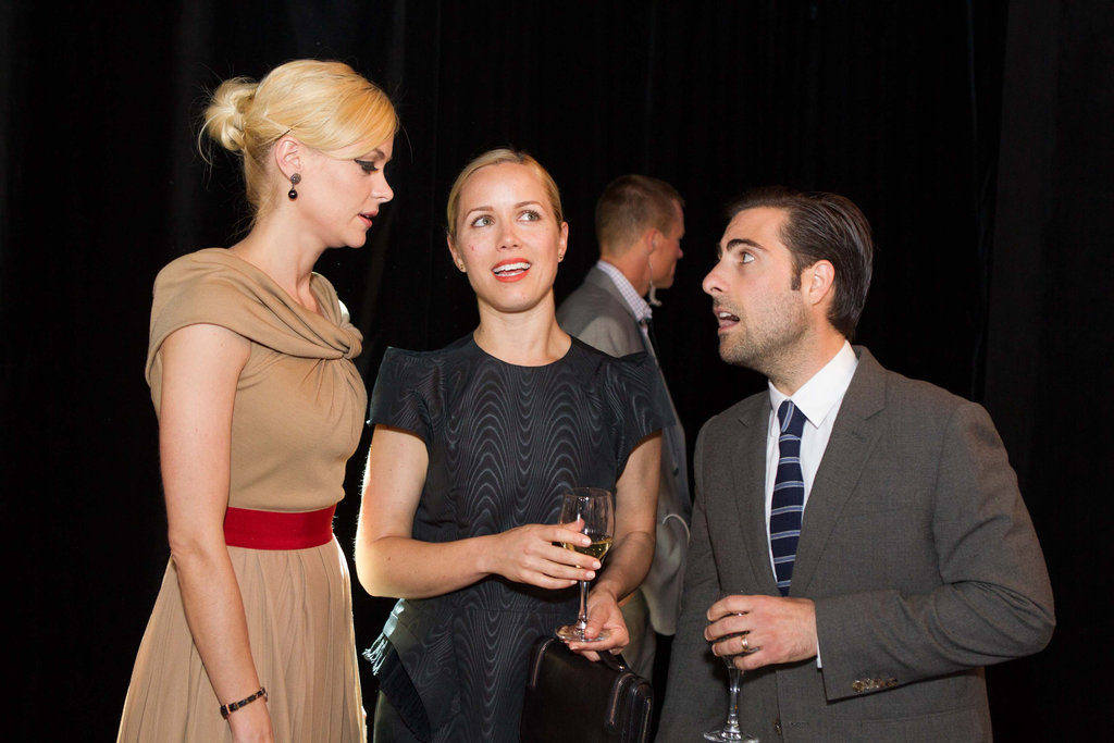 Jaime King, Brady Cunningham, and Jason Schwartzman chatted at the Lexus Laws of Attraction art exhibit in California.