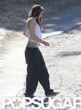 Kristen Stewart wore sweats.