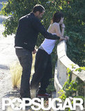 Kristen Stewart and Rupert Sanders pulled over to the side of the road.