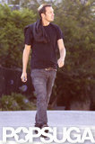 Rupert Sanders wore jeans and a black shirt.