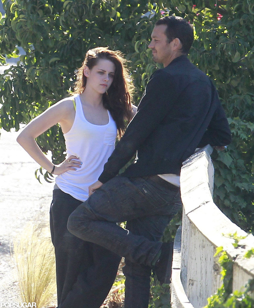 Kristen Stewart hung out outside with Rupert Sanders.