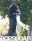 Rupert Sanders kissed Kristen Stewart's neck.