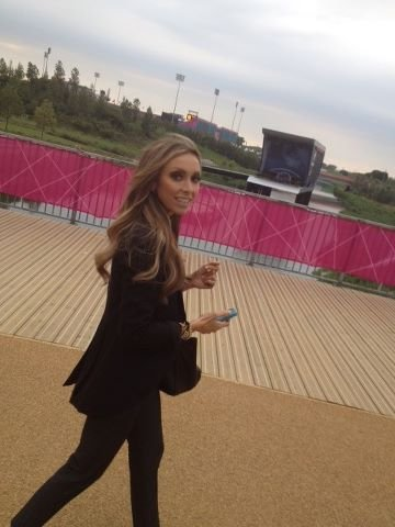 Giuliana Rancic checked out Olympic Park.  Source: Twitter user GiulianaRancic
