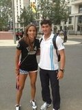 Lolo Jones snapped a pic with a fellow Olympian and fan.  Source: Twitter user lolojones