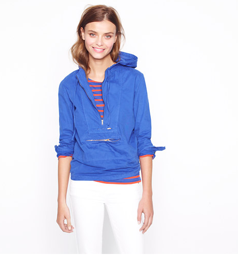 A colorful anorak can come in handy rain or shine. J.Crew Shrunken Anorak ($98)